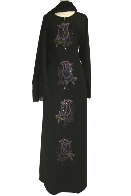 Dubai Abaya with Design Work