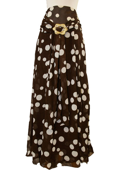 Cotton Long Skirt with Belt