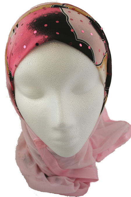 Hijab Kuwaiti style (1pec attached to a long shawl)